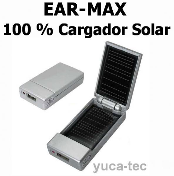 100 % Cargador Solar - EAR-MAX Fuerte Recargable