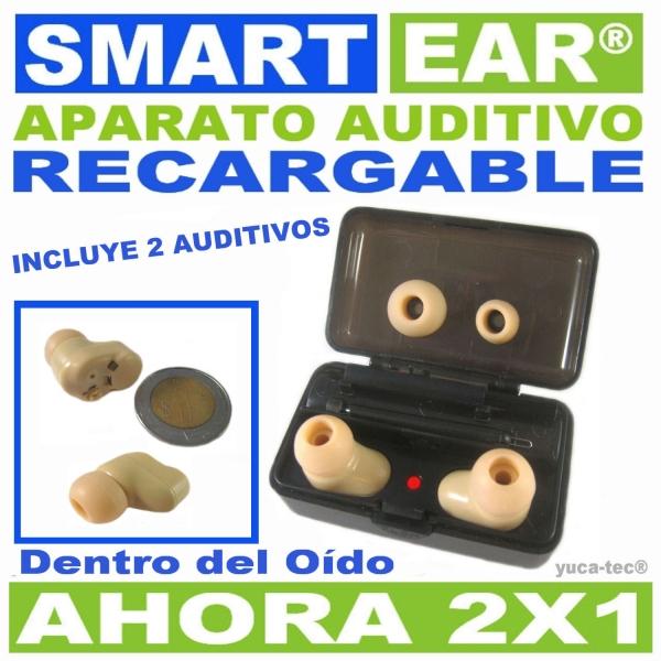 SMART EAR® Aparato Auditivo RECARGABLE Dentro Del Oído - AHORA 2 X 1