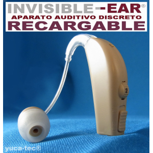 INVISI�EAR� Aparato Auditivo RECARGABLE Discreto