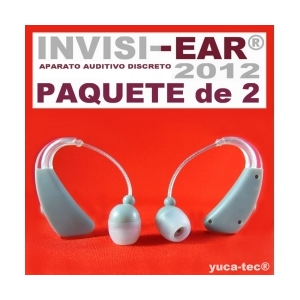 Paquete de 2 INVISI-EAR� 2012 Aparatos Auditivos Peque�o Discreto