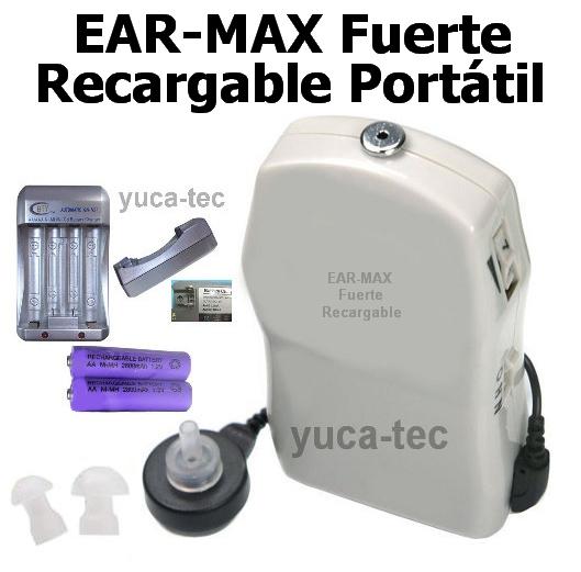 EAR-MAX Fuerte Recargable Portátil Sordera Aparato Auditivo Auxiliar