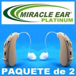 Paquete de 2 MIRACLE EAR® PLATINUM Aparato Auditivo Discreto Con 2 Canales de Frecuencia