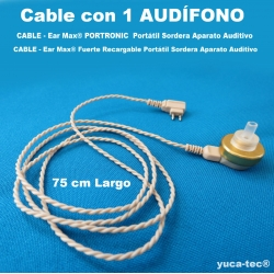 CABLE con 1 Audífono  - Ear Max®