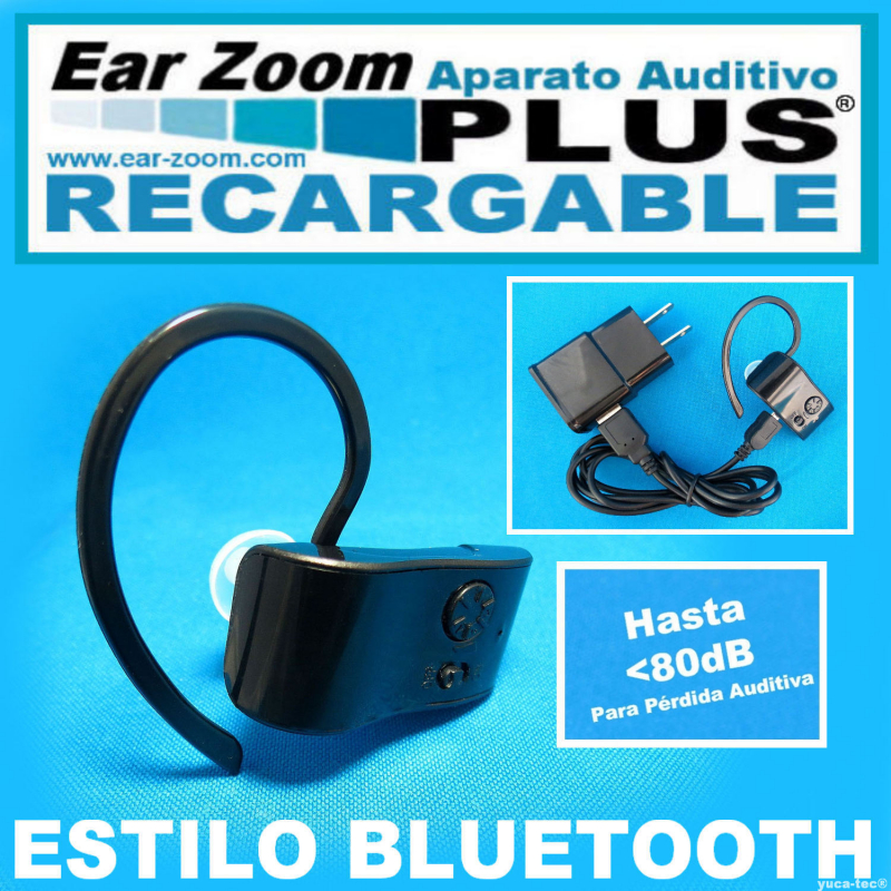 EAR ZOOM PLUS® RECARGABLE Estilo BLUETOOTH Aparato Auditivo Auxiliar