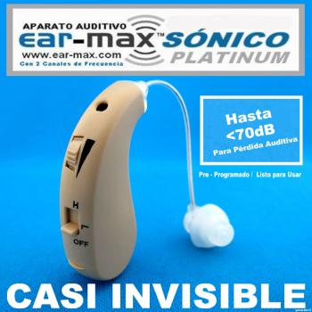 EAR-MAX® SÓNICO PLATINUM Aparato Auditivo Con 2 Canales de Frecuencia