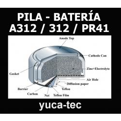 Paquete de 18 pilas bater as a312 312 pr41 tipo - Tipos de pilas de boton ...