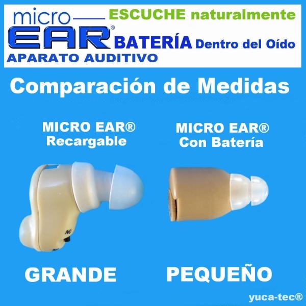 Paquete de 2 MICRO EAR® Aparato Auditivo - Dentro del Oído
