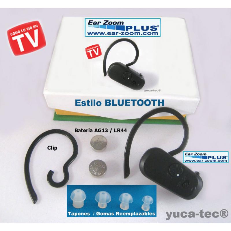EAR ZOOM® PLUS  Estilo BLUETOOTH  Aparato Auditivo Auxiliar para Sordera