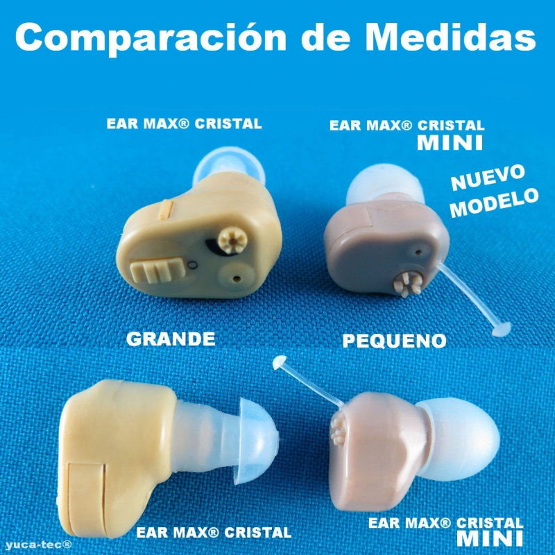 EAR MAX® Cristal MINI - Aparato Auditivo Auxiliar - Dentro Del Oído