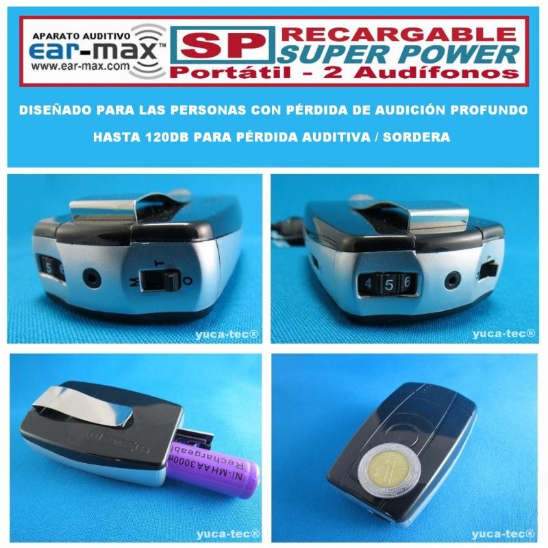 EAR MAX® Aparato Auditivo Recargable Portátil SP - SUPER POWER