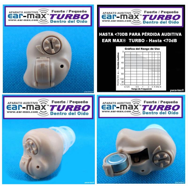 EAR MAX® TURBO - Aparato Auditivo Auxiliar - Dentro Del Oído