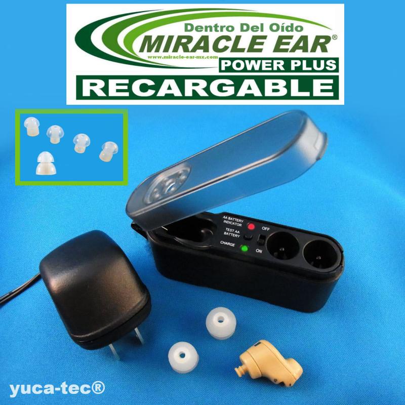 MIRACLE EAR® POWER PLUS Aparato Auditivo RECARGABLE Dentro del Oído