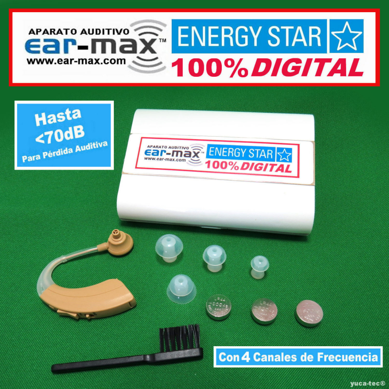 EAR MAX® ENERGY STAR - Aparato Auditivo 100% DIGITAL