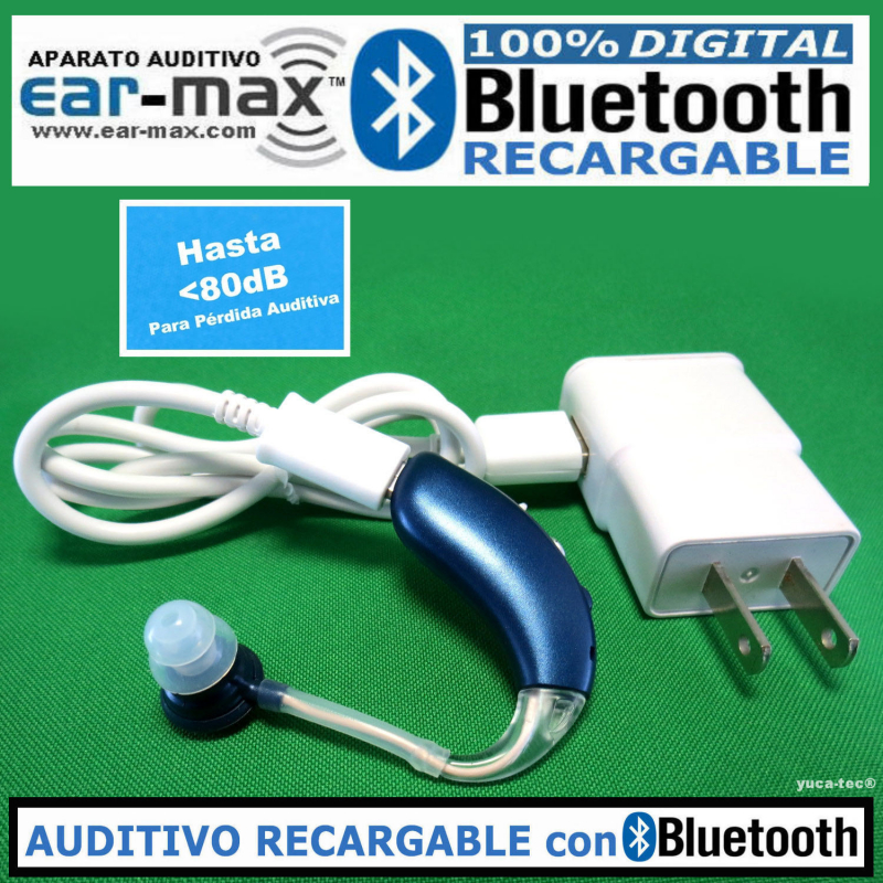 EAR MAX® BLUETOOTH RECARGABLE - Aparato Auditivo 100% DIGITAL