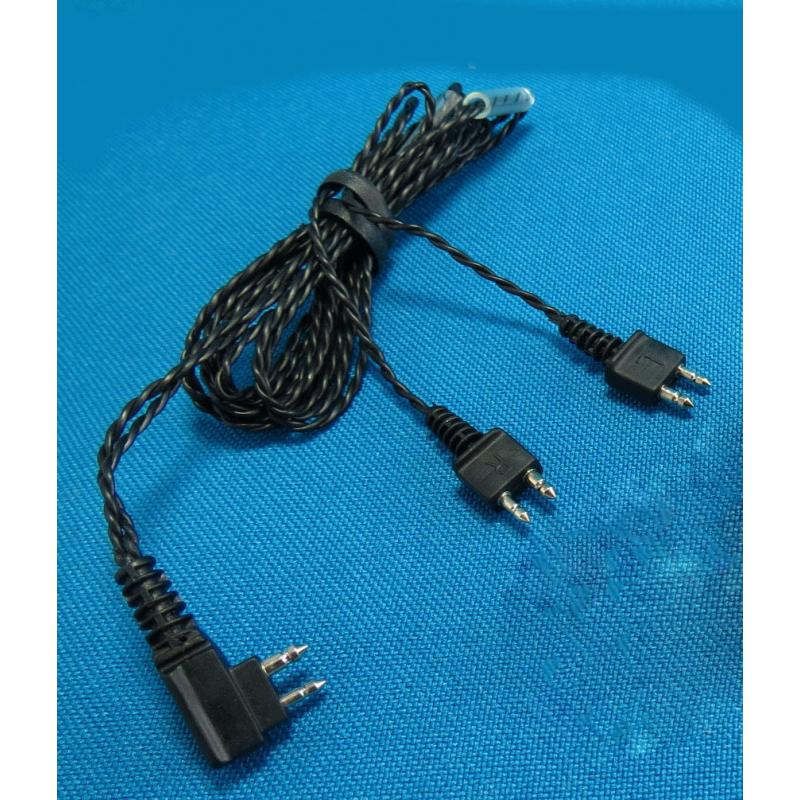 CABLE Doble Reemplazable para 2 Audífonos - Ear Max®  Portátil Sordera Aparato Auditivo Y Más