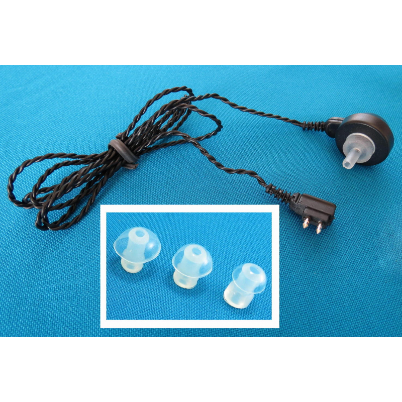 CABLE con 1 Audífono y 3 Tapones - Ear Max®