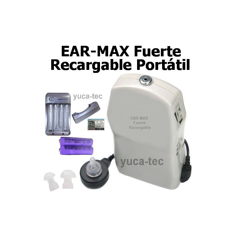 CABLE - Ear Max Fuerte Recargable Portátil Sordera Aparato Auditivo
